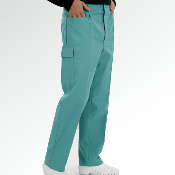 TROUSER WITH STUDS AND ELASTIC WAIST
